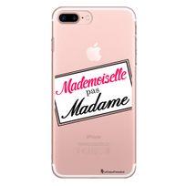 La Coque Francaise - Coque rigide transparent Mademoiselle pas Madame pour iPhone 7 Plus
