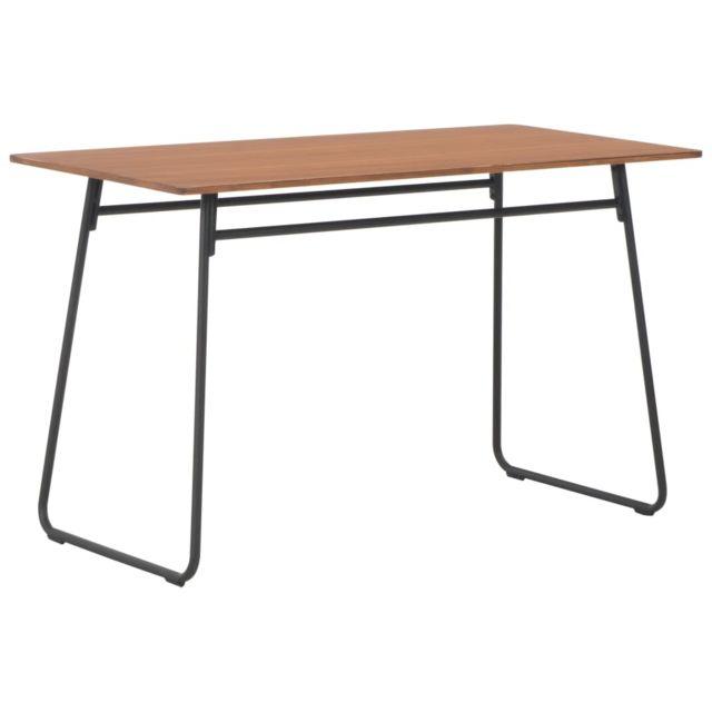 MARQUE GENERIQUE Admirable Tables serie Tachkent Table à dîner Marron 120x60x73 cm Contreplaqué solide et acier