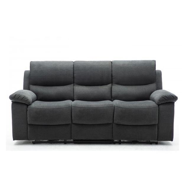 Moloo Keaton-canapé 3 places tissu gris anthracite 2 Relax électrique