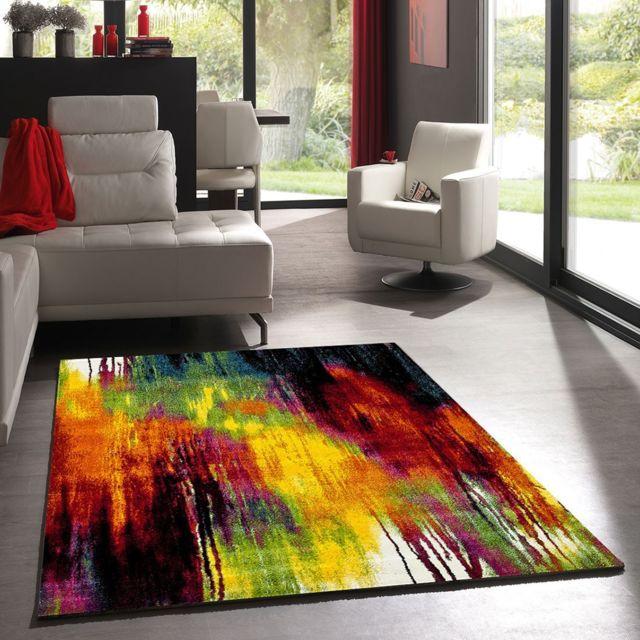 Un Amour De Tapis Tapis De Salon Moderne Design Belo Multicolore