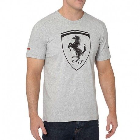 Puma - Tee-shirt Big Shield gris Ferrari Homme - pas cher Achat   Vente Tee  shirt homme - RueDuCommerce 86a56fffbb01