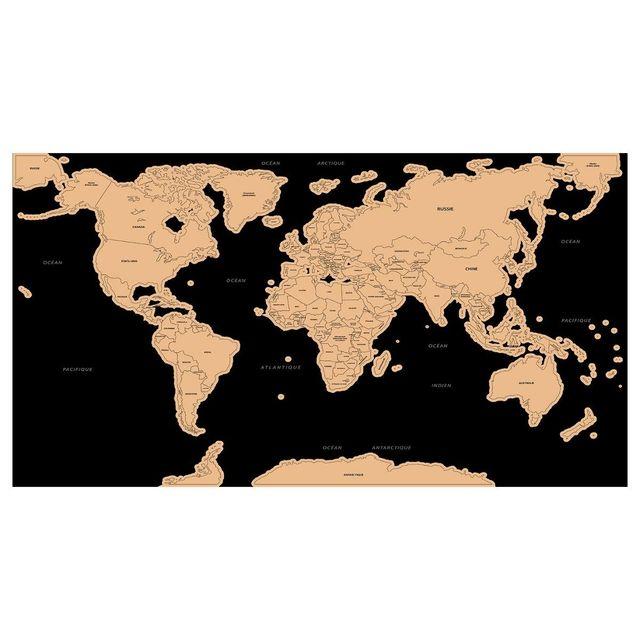 Atmosphera - Carte du monde à gratter 80cm x 45cm