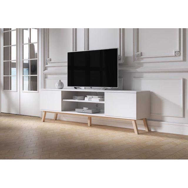 Vivaldi Meuble Tv - Matti - 150 cm - blanc mat