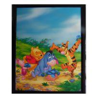 Marque Generique - Tableau Winnie l'Ourson, Porcinet, Tigrou et bourriquet 20 x 25 cm Disney cadre fleur rect