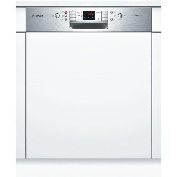 Bosch lave-vaisselle 60cm 12 couverts a+ intégrable avec bandeau apparent inox - smi50l05eu