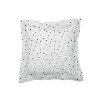 Sisomdos - Taie d'oreiller Dots 65x65 cm noir et blanc