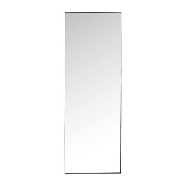 Karedesign miroir curve rectangulaire acier 200x70 kare for Miroir design rectangulaire