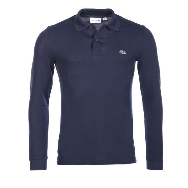 a6efc93c94 Lacoste - Lacoste Homme - Polo marine coton piqué classic fit manches  longues L1312