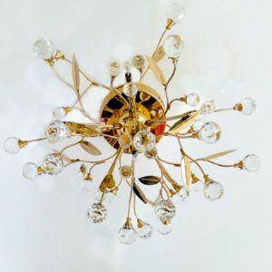 kosilum lustre plafonnier cristal dor gutenstein 6 lumi res 45cm x 26cm x 45cm pas cher. Black Bedroom Furniture Sets. Home Design Ideas