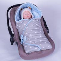 Sevira Kids - Couverture enveloppante réversible et multi-usage pour siège auto - Étoiles