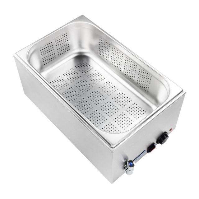 Autre Bain-marie électrique professionnel bac avec trou avec robinet de vidange 1 200 watts 3614104