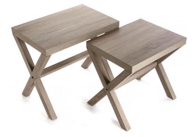 Verre Clair Moderne Meubles Home Discount/® Cara Lot de 3/Tables gigognes