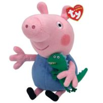 Peppa Pig - Ty - Beanies George - Peluche Douce 20 Cm