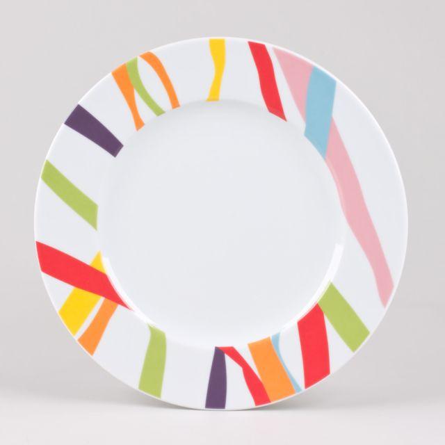 Assiettes Plates Multicolores - Achat Assiettes Plates