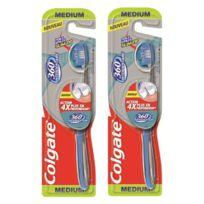 Colgate - Brosse à Dents 360° Interdentaire Medium Lot de 2