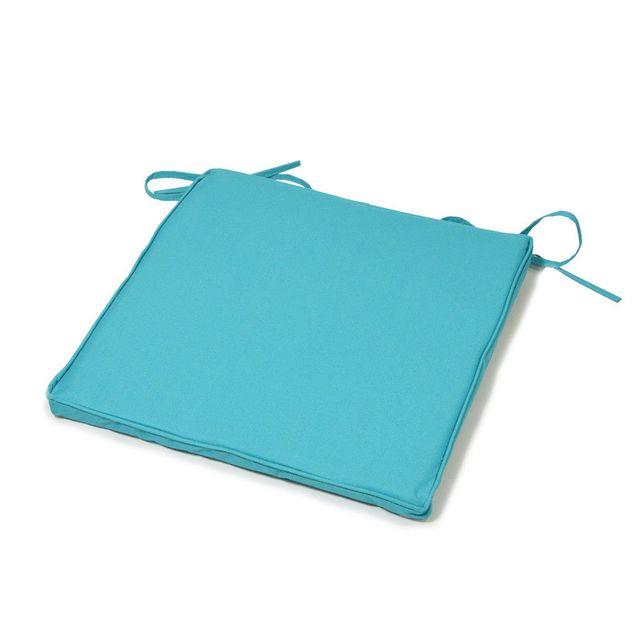 coussineo galette de chaise uni 40x40x3 cm turquoise pas cher achat vente coussins. Black Bedroom Furniture Sets. Home Design Ideas