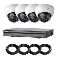 Dahua - Kit Evo 4 Dom B 1080P-1TO – Pack vidéo-surveillance 4 caméras dôme anti-vandalisme 1080P + enregistreur + disque 1 To