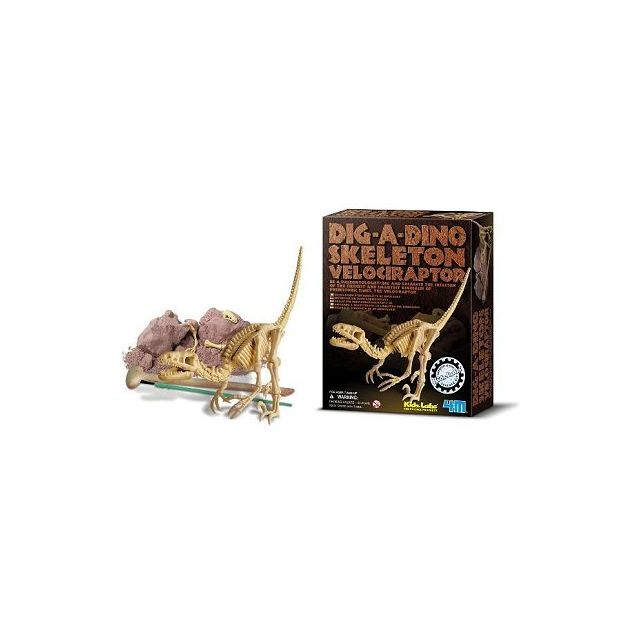 4M - Kidz Labs - Velociraptor Déterre ton Dinosaure Dig a dino