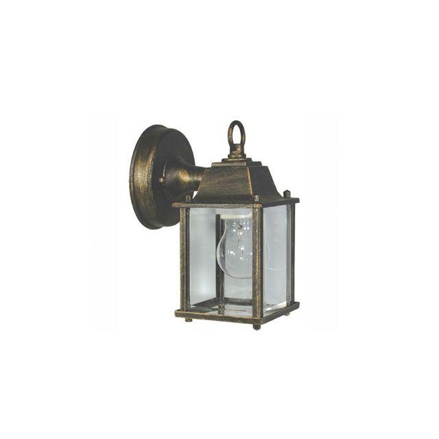 Faro - Applique extérieure électrique descendante en métal et verre hauteur 20.5cm Dado