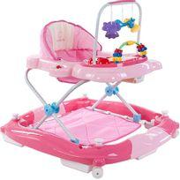Trotteur balancelle interactive jouets sons lumières bébé 6-12 mois Petit Chat   Rose