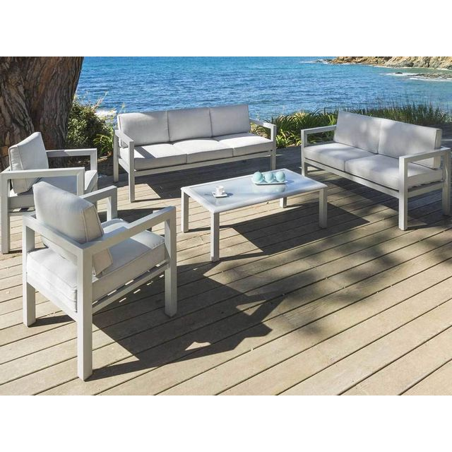 hesperide salon de jardin 7 places azua silver mat hesp ride 1 pas cher achat vente. Black Bedroom Furniture Sets. Home Design Ideas