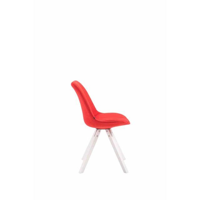 Distingué Chaise de conférence Siège visiteur New Delhi en tissu carré blanc