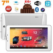 Yonis - Tablette 3G 7 pouces Gps Otg Android 4.4 Double Sim 36Go Blanc