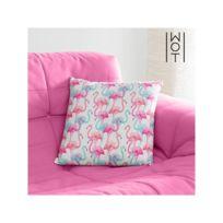 coussin flamant rose achat coussin flamant rose pas cher rue du commerce. Black Bedroom Furniture Sets. Home Design Ideas