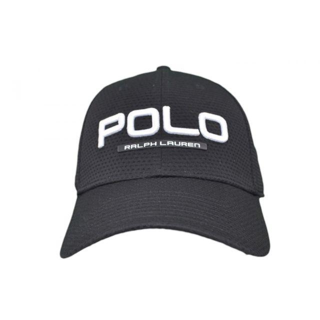 d40ea23148fc Ralph Lauren - Casquette Polo noire pour homme - pas cher Achat   Vente  Casquettes, bonnets, chapeaux - RueDuCommerce
