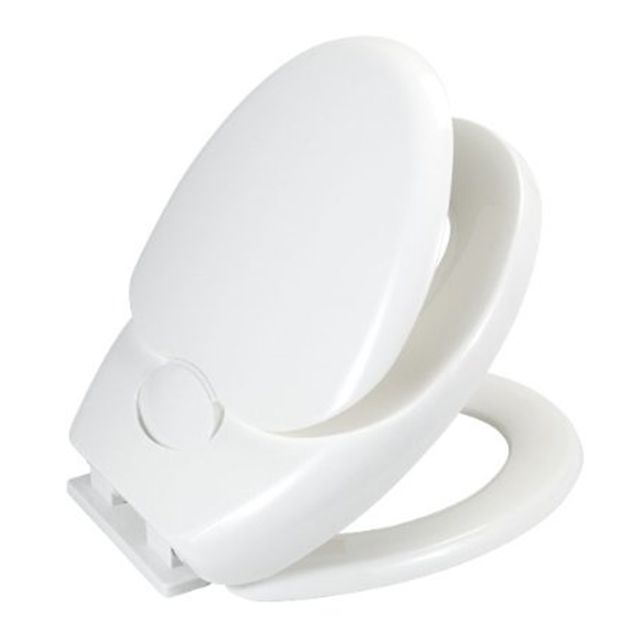 wenko double abattant wc blanc avec fermeture easy close 110003100 pas cher achat vente. Black Bedroom Furniture Sets. Home Design Ideas