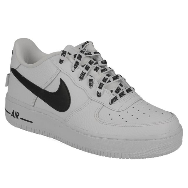 newest 9af62 2b1e7 Nike - air force 1 Lv8 Gs white black 820438 108 - pas cher Achat   Vente Baskets  enfant - RueDuCommerce