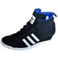 Adidas - Originals-ROUND-IT Wedge W Femme Noir-Blanc Q20631