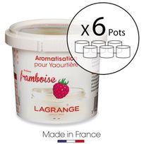 Lagrange - Lot de 6 pots d'aromatisation pour yaourts Framboise