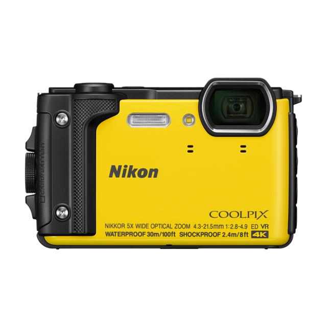 NIKON Appareil photo compact étanche Jaune - W300 Appareil photo numérique compact qui vous accompagne partout, même en eau profonde. Bénéficiez d'une qualité d'image exceptionnelle, d'une connectivit&ea