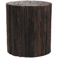 AUBRY GASPARD - Tabouret rondin de bois