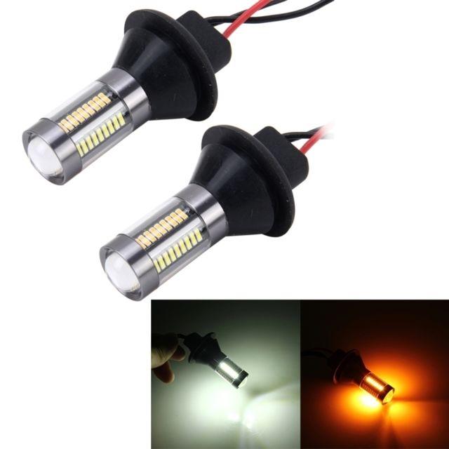 Smd Lampe Inversée 1156 Auto Feux 2 5 4014 Lumière 300lm W 66 Clignotant Ampoule De Pcs Voiture Diurnes Source Led Queue BlancheJaune CxoeBrWd