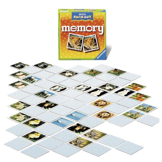 RAVENSBURGER PETITS ANIMAUX - Jeu de société Grand Memory® - 21295 Le plus célèbre des jeux de mémoire, avec d'attendrissantes photos de bébés animaux !