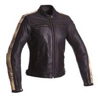 Segura - blouson moto cuir femme Lady Nygma vintage noir-serpent Scb1223 T4