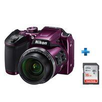 NIKON - Pack Débutant Coolpix B500 Violet + Carte SD 16GO