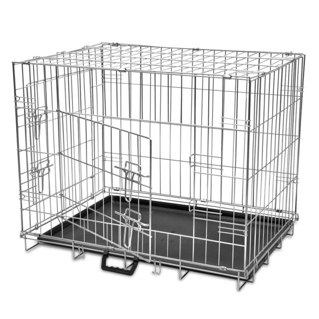 vidaxl cage en m tal pliable pour chien l pas cher. Black Bedroom Furniture Sets. Home Design Ideas