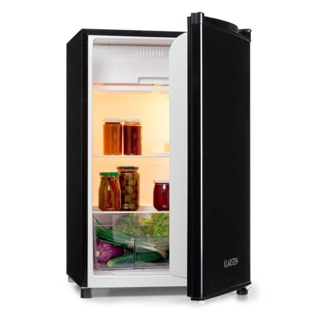 KLARSTEIN Samara Réfrigérateur 120 litres - Bac à légumes inclus - Intégrable partout - Classe A+ - Noir