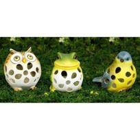 Galix - Lot de 3 Petits animaux solaire