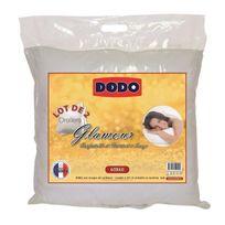 DODO - Lot de 2 oreillers Glamour 60x60 cm blancs