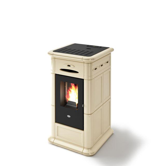 Sannover Thermique Poêle à granulés air en faïence Alina 8kW Blanc Sannover