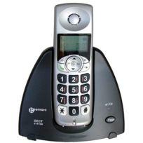 Geemarc - Mydect silver Téléphone sans fil amplifié version Française