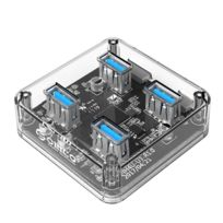 Wewoo - Hub Usb 3.0 transparent Usb 3.0 bureau avec câble micro Usb 30cm