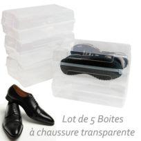 Ego Design - Boite a chaussures homme en plastique lot de 5