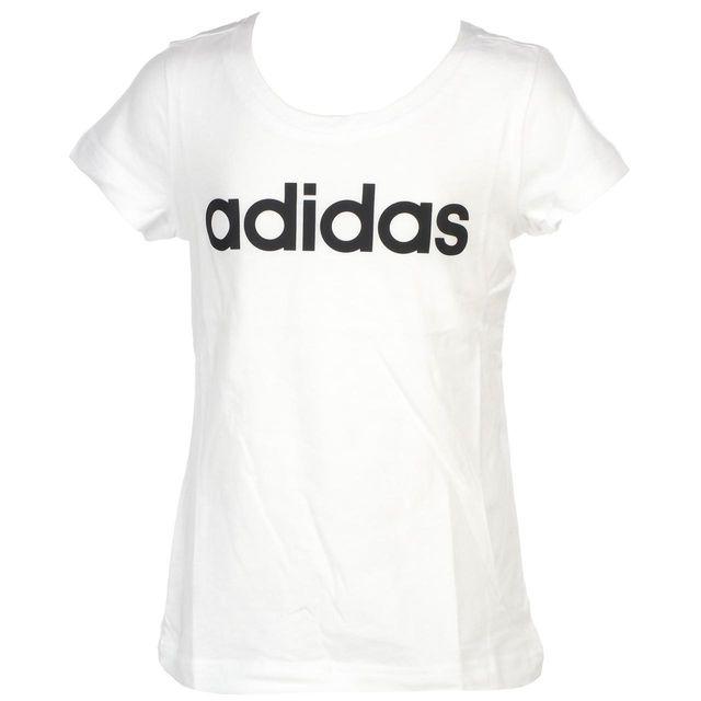 388324c00025b Adidas - Tee shirt manches courtes Linear blanc mc tee g Blanc 50120 11 ans  - pas cher Achat   Vente Tee shirt enfant - RueDuCommerce
