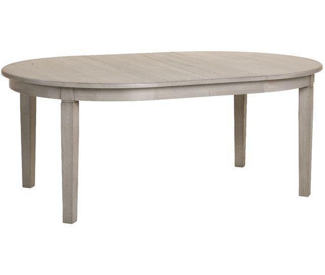 Comforium Table de salle à manger ovale extensible 190-310cm en bois massif coloris Sahara