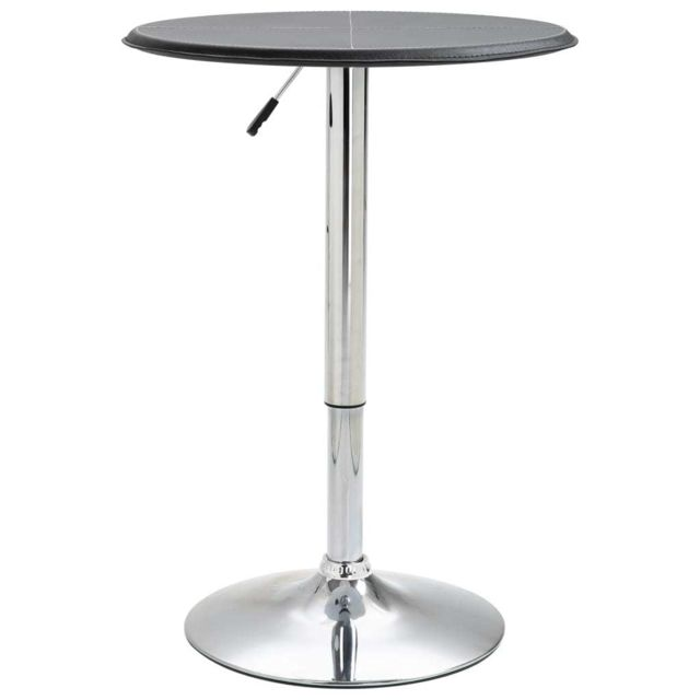 Chic Tables ensemble Maputo Table de bar Noir Ø60 cm MDF